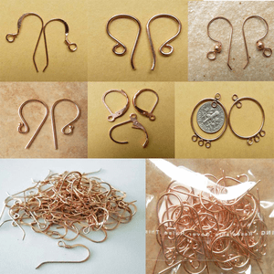 Copper Ear Wires Leverbacks and earring components