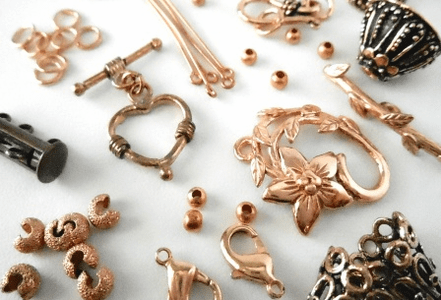 Copper findings- Ear wires, head-pins, bails, toggles, clasps and more