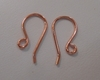 Copper fish hook ear wires popular simple design 30 pair