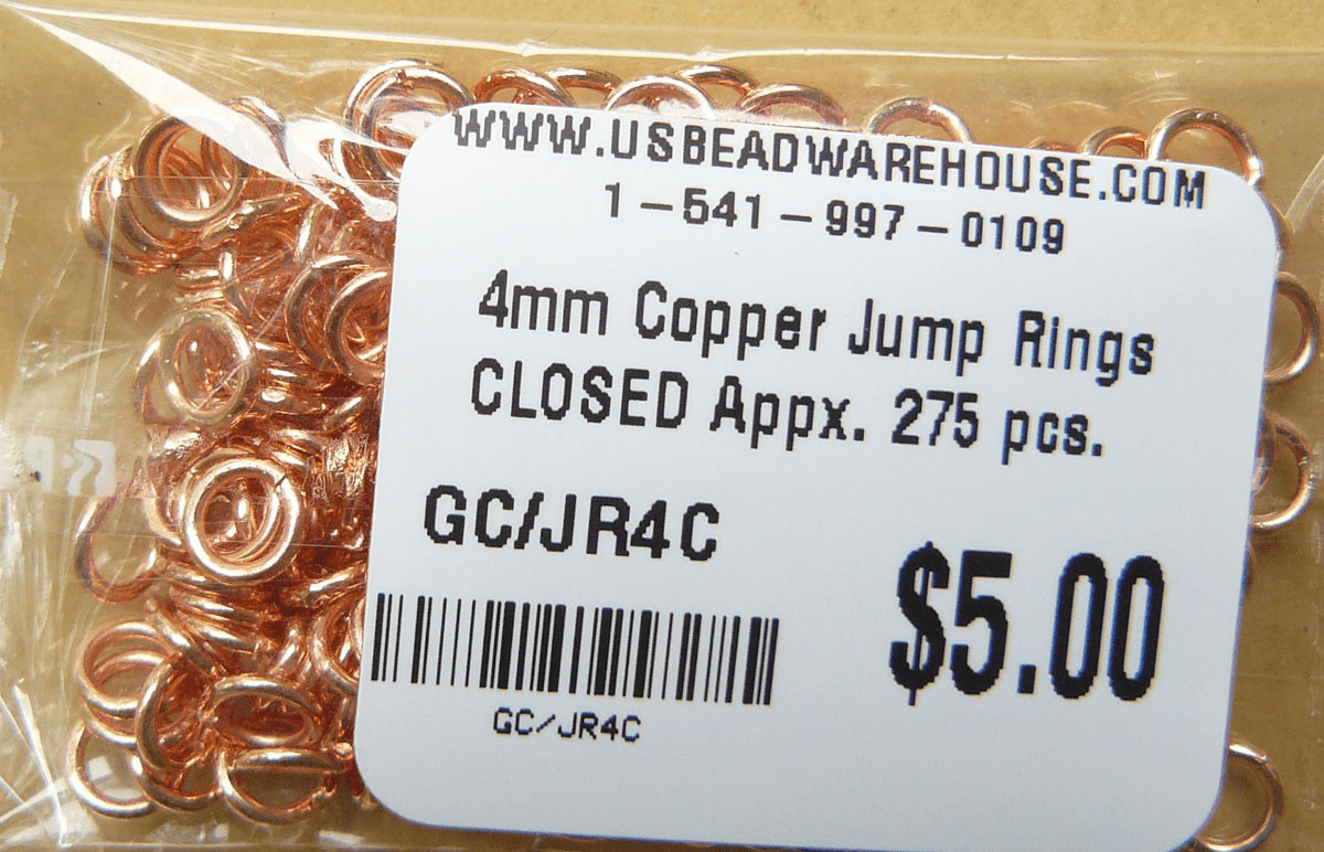 Copper Jump Ring Closed Over 300 pieces COBK45-4
