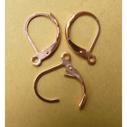 Copper Leverback earring components 11x15mm - 11 Pair PK1913CPL