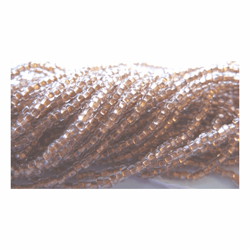 Copper Lined Crystal 10/0 Seed Bead