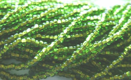 Copper Lined Olive 10/0 Seed Bead