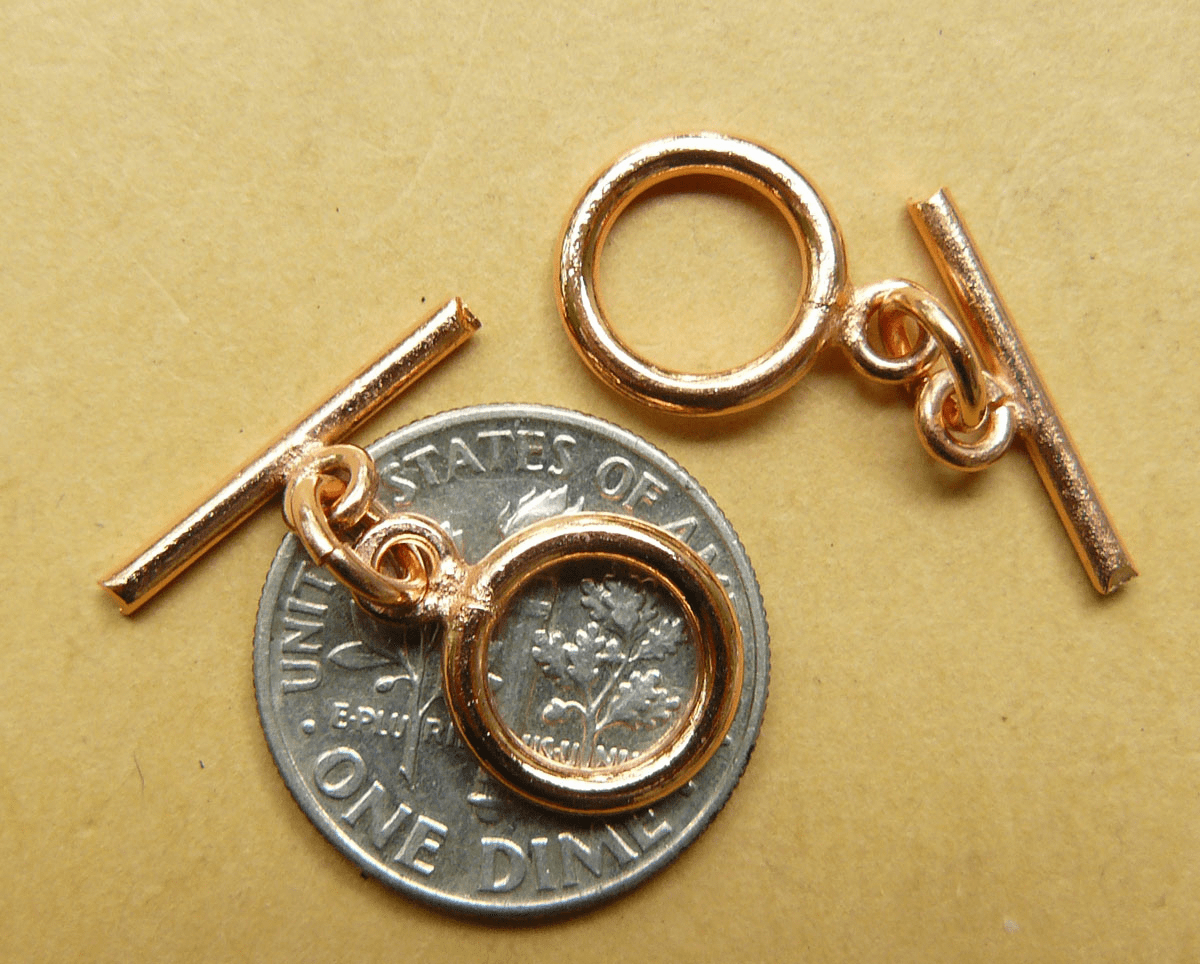 Copper Toggle 12mm smooth 9 toggle quantity pack