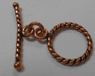 Copper Twisted Toggle 8 Sets