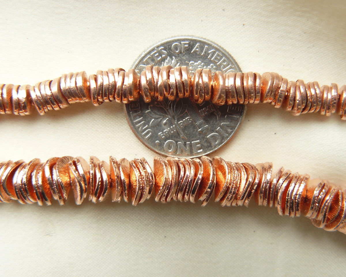 Copper Wafer beads 4mm top picture 200+pcs