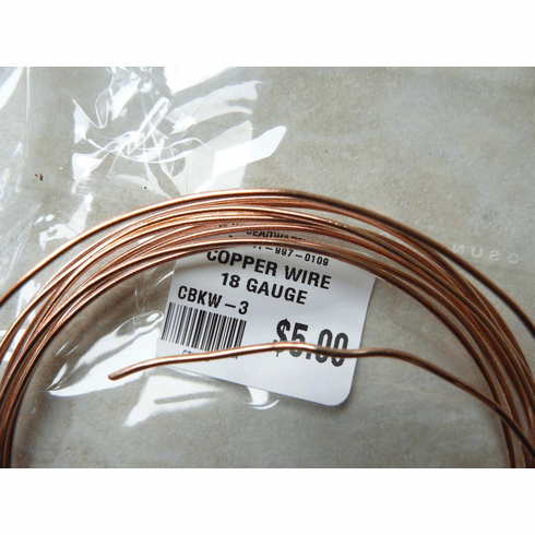 Copper Wire 18 Gauge approximately 9 Feet one Oz. Rolls