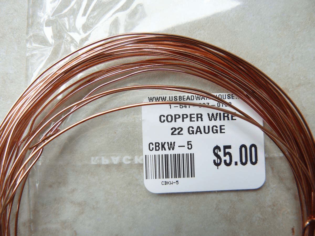 Copper wire 22 Gauge approximately 28 Feet one oz. Rolls
