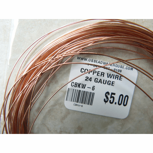 Copper wire 24 Guage one Oz. Rolls aproximately 30 feet