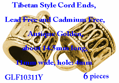 Cord ends 6 pieces