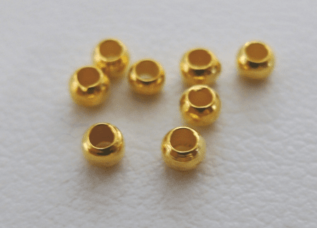 Crimp Beads 2mm-24KT Gold Over Copper<BR>GCCB2