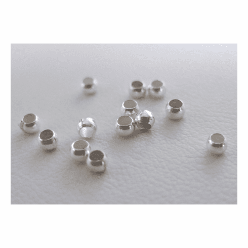 Crimp Beads - 2mm - 525 Pieces - .999 Silver Over Copper<br>SCRC2M