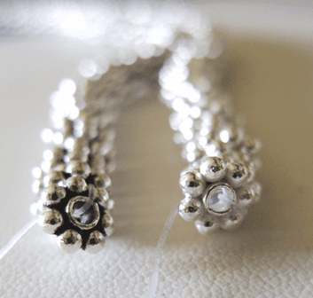 Daisy Spacers - .999 Silver Over Copper