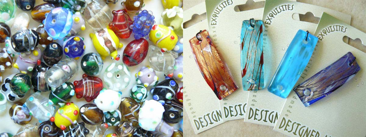 Designer Art Glass beads Hand made By Artisans