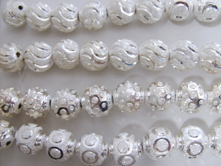 Reflection Beads Sterling Silver Grey Laser Cut Bead 12 x 11 mm