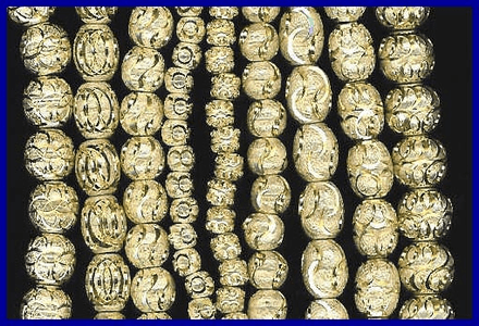 Diamond Cut Brass Beads <font color=yellow>(NEW!)