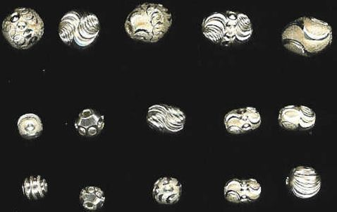 Diamond Cut Sterling Silver Beads