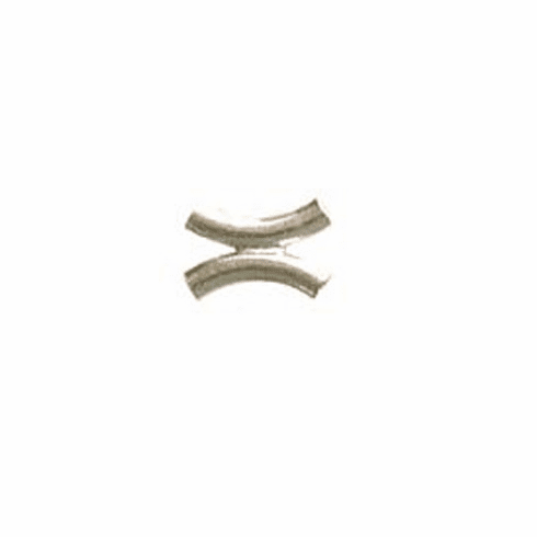 Double Curved Tube - 23mm - 6 Pieces - .999 Silver Over Copper<br>SCBK1010