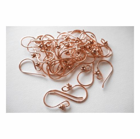 Ear Wire - 22mm - 15 Pair - Copper<br>CO319