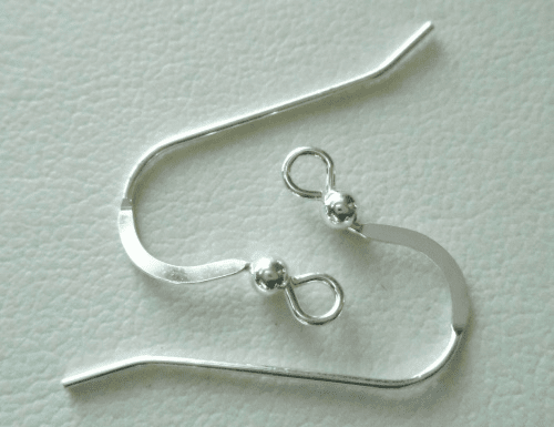 Ear Wire with Bead - 10 Pieces - Sterling Silver<br>SS-108
