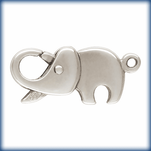 Elephant Clasp Sterling Silver 20x9mm 1 Clasp 5002087-966