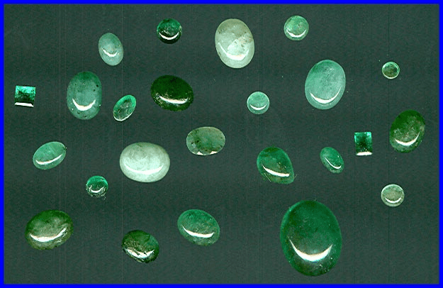Emerald Cabochons <br>& Faceted Gemstones