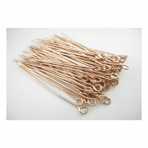 """Eye Pins - 1.5"""" - 68 Pieces - Rose Gold Over Copper<br>SHE"""