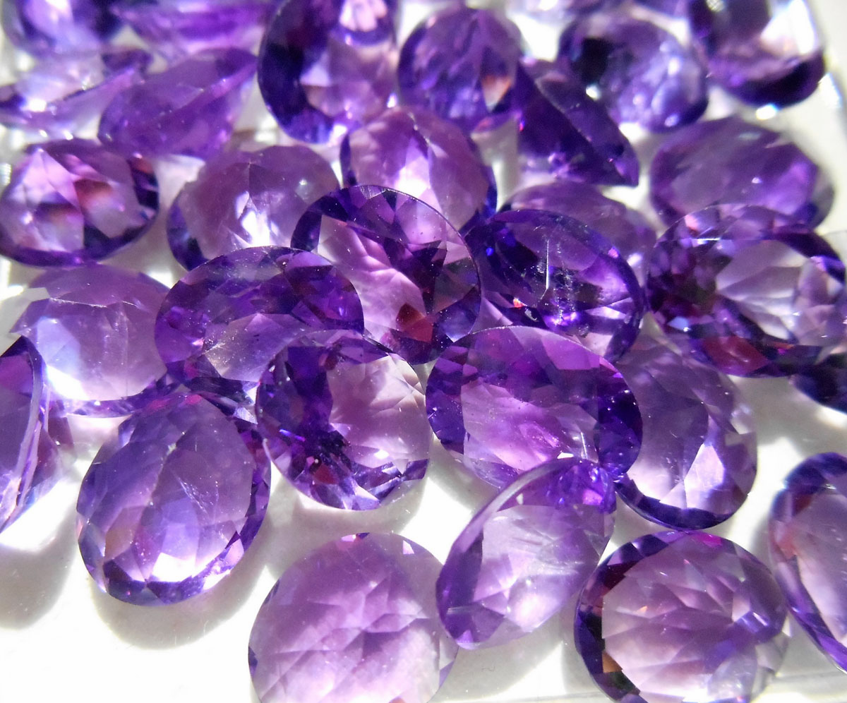 Faceted 10x12mm Oval African Amethyst Gemstone