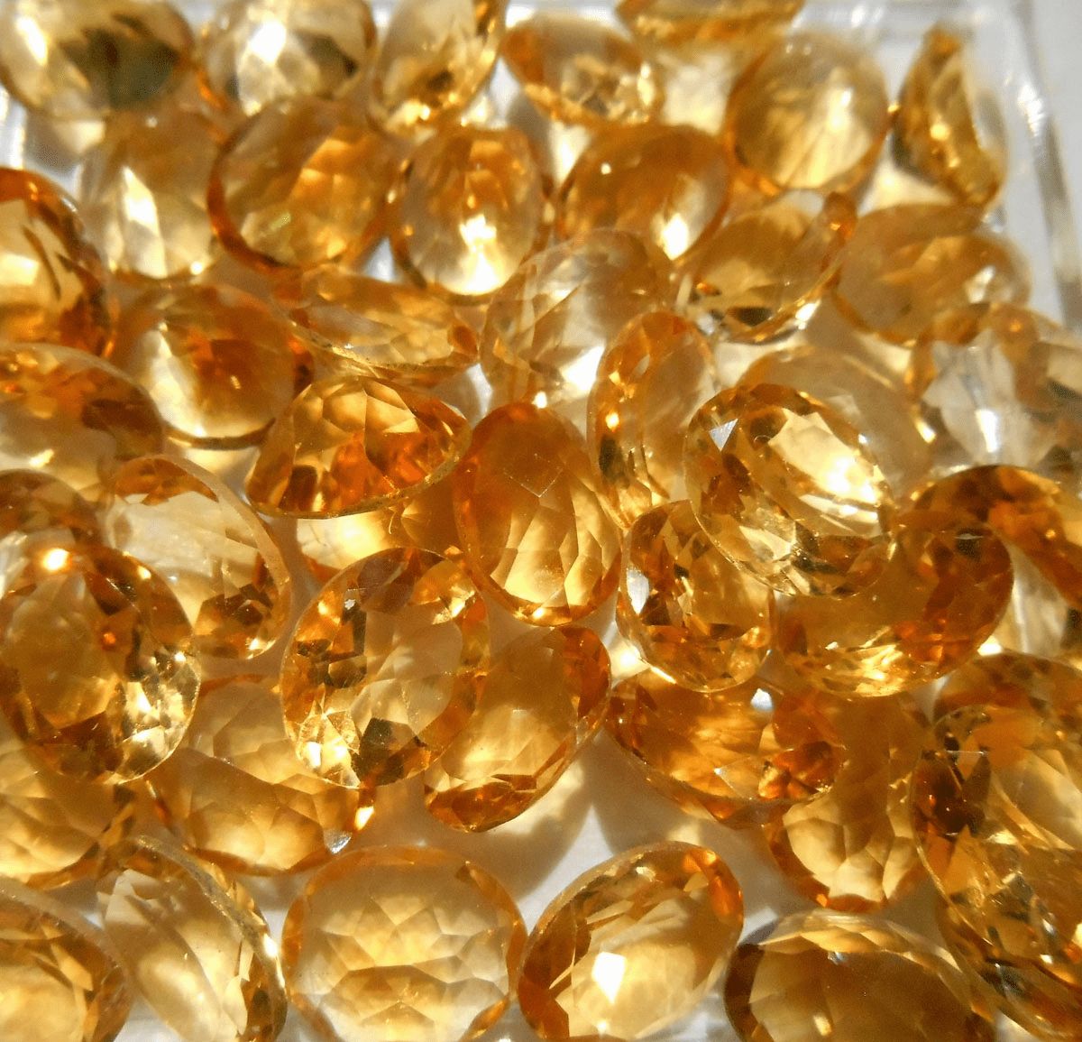 Faceted 8x10mm Oval Citrine Gemstone