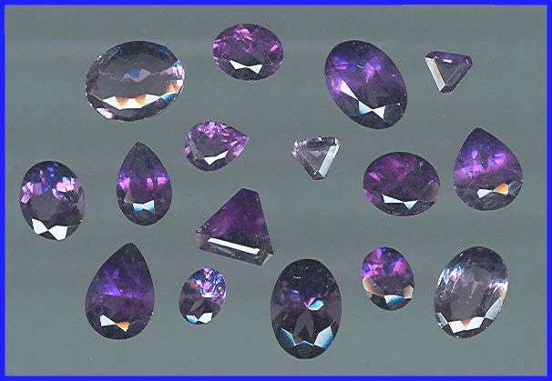 Faceted Amethyst Gemstones