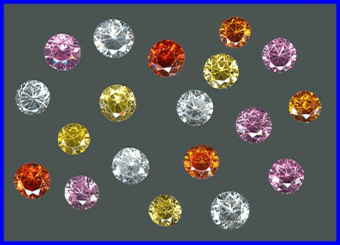 Faceted Cubic Zirconia Gemstones