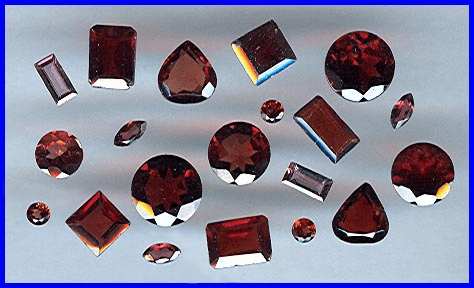 Faceted Garnet Gemstones