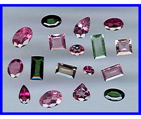 Faceted Tourmaline Gemstones
