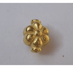 Fancy Bead - 9x11mm - 18 Beads - 24kt. Gold Over Copper<br>GCBK102