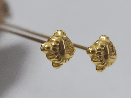 "Fancy Head Pin 3"" 5mm 45 Pieces 24Kt. Gold Over Copper"