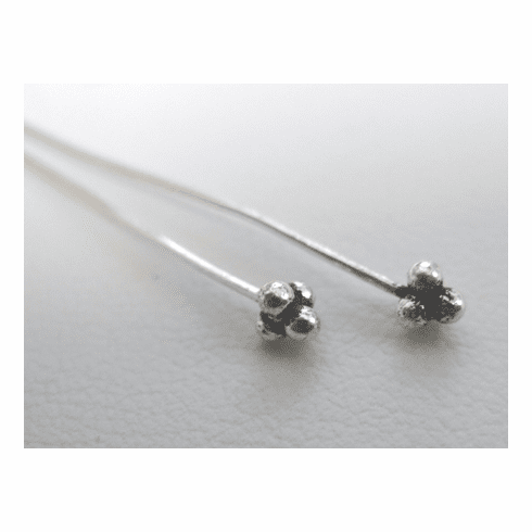 """Fancy Head Pins 3""""  SCBK51 26 Pieces  .999 Silver Over Copper"""