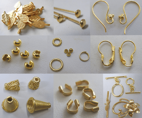 -Findings- 24kt. Gold Over Copper Core