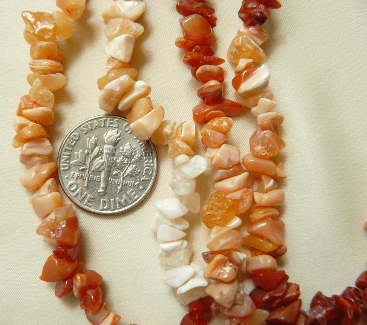 Fire Agate Chip Beads