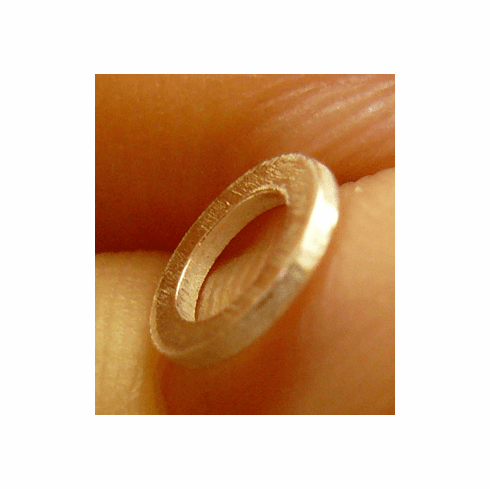 Flat Washer-Style Jump Ring - 6mm - 120 Pieces - Closed - .999 Silver Over Copper<br>SCBK50