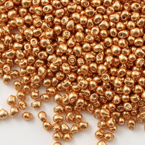 Galvanized Gold drop Seed Beads