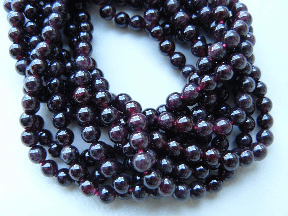 Garnet Beads 3mm round Natural Stone and Color