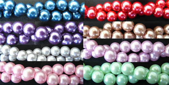 Glass Pearls 4-6-or 8 MM very uniform and nice
