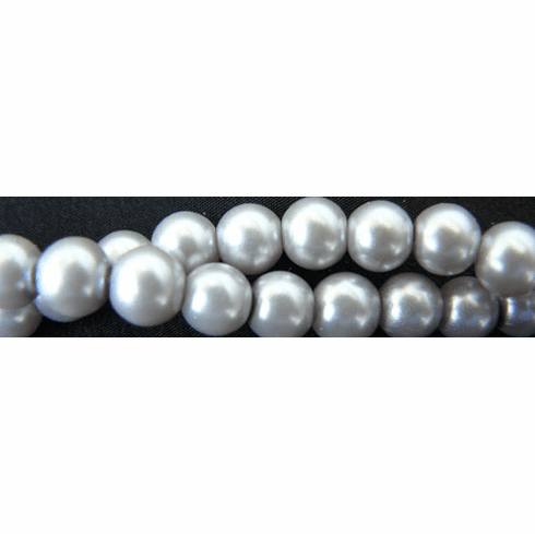 """Glass Pearls Uniform and nice Grey16"""" strand 4- 6- or 8 MM"""