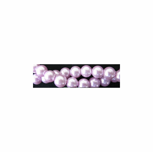 "Glass Pearls Uniform and nice Lavender 16"" strand 4- 6- or 8 MM"