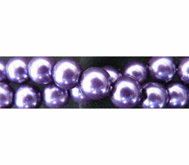 """Glass Pearls Uniform and nice Purple16"""" strand 4- 6- or 8 MM"""