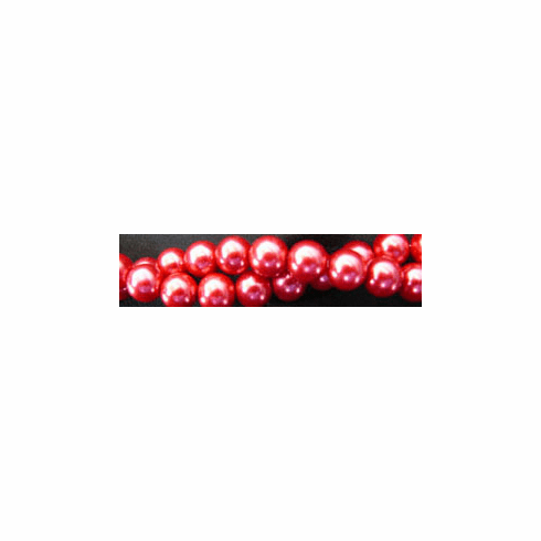 """Glass Pearls Uniform and nice Red 16"""" strand 4- 6- or 8 MM"""