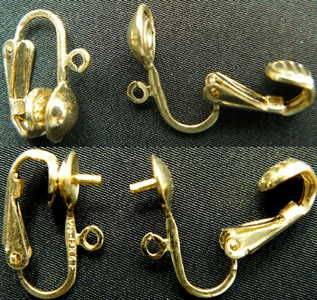 Gold filled clip on earring findings