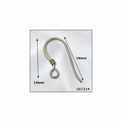 Gold Filled Ear Wires W/Coil 5 pair  GF-114-10
