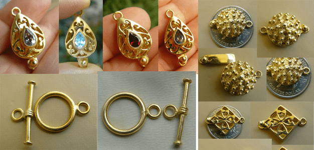 Gold Vermeil Clasps and Toggles