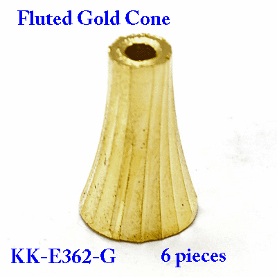 Golden Fluted Cone 6 pieces